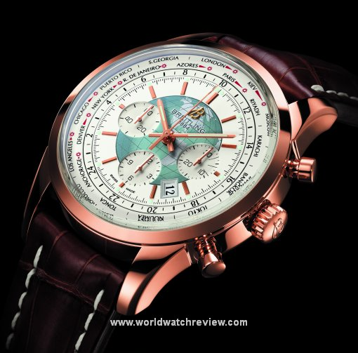 Breitling Transocean Chronograph Unitime World Time watch