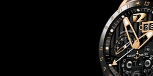 Choose The Cheap Replica Ulysse Nardin Black Toro Perpetual Calendar GMT Rose Gold Watch
