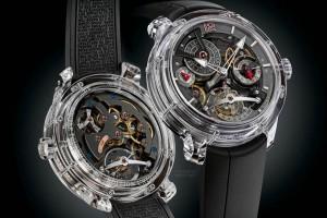 Greubel Forsey's Double Tourbillon 30° Sapphire Watch